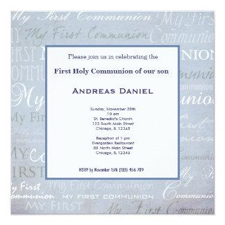 Comunión santa invitación 13,3 cm x 13,3cm