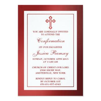 Comunión santa metálica o confirmación de la Cruz Invitación 12,7 X 17,8 Cm