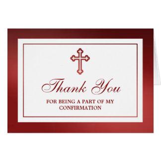 Comunión santa metálica o confirmación de la Cruz Tarjeta De Felicitación