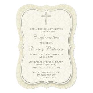 Comunión santa o confirmación cruzada elegante invitación 12,7 x 17,8 cm