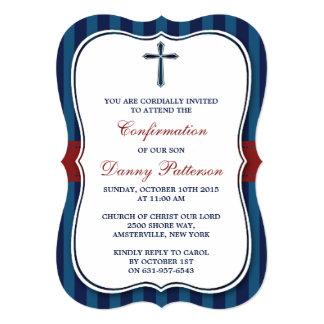 Comunión santa o confirmación de la Cruz azul y Invitación 12,7 X 17,8 Cm