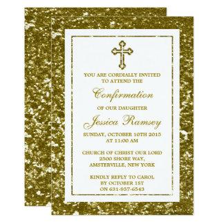 Comunión santa o confirmación de la cruz del invitación 12,7 x 17,8 cm