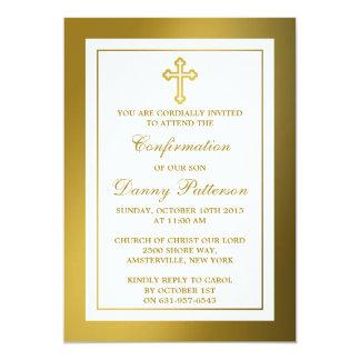 Comunión santa o confirmación de la cruz metálica invitaciones personales