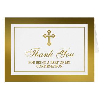 Comunión santa o confirmación de la cruz metálica tarjeta de felicitación