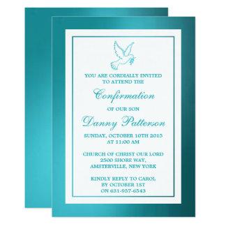 Comunión santa o confirmación de la paloma invitación 12,7 x 17,8 cm