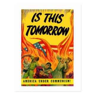 ¡Comunismo retro de la propaganda del kitsch del Postal