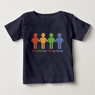 Con A poca ayuda de mis amigos Camiseta De Bebé