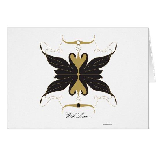 Con amor tarjeta de felicitación