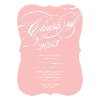 Con clase adentro se ruboriza la invitación de la invitación 12,7 x 17,8 cm
