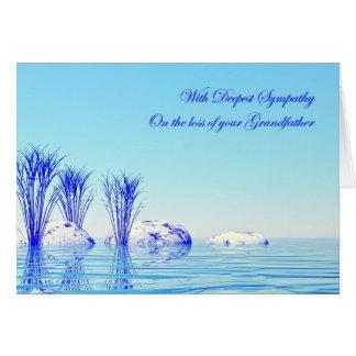 Con condolencia en la pérdida de abuelo tarjeta de felicitación