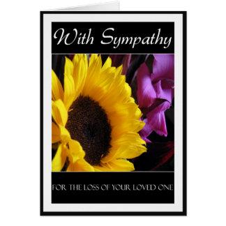 Con condolencia tarjeta de felicitación