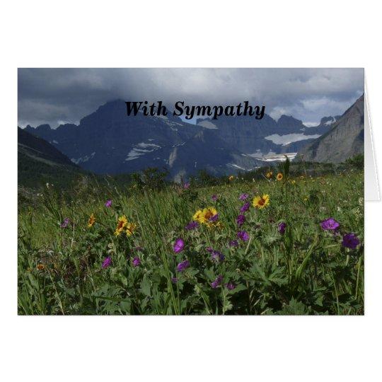 Con condolencia, Wildflowers de la montaña Tarjeta De Felicitación