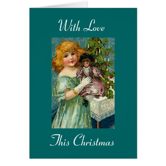 Con el amor este navidad tarjeta de felicitación