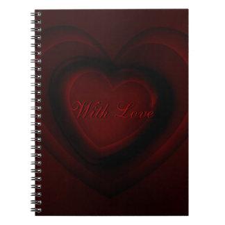 Con el cuaderno del amor