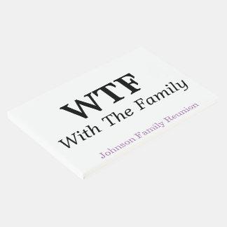 Con el Guestbook de la reunión de familia de la Libro De Invitados