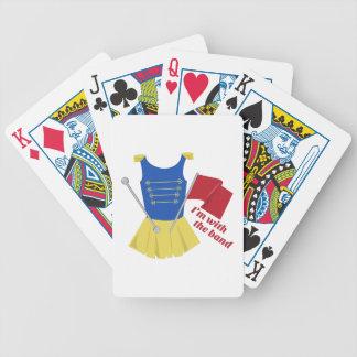 Con la banda cartas de juego