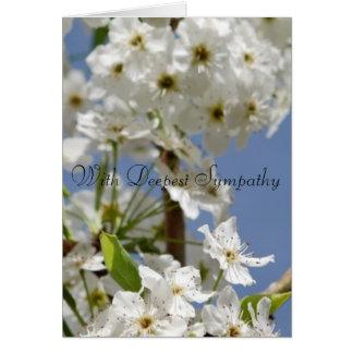 Con la condolencia más profunda floral tarjeta de felicitación