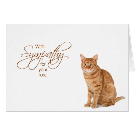 Con la condolencia - pérdida de gato tarjeta de felicitación