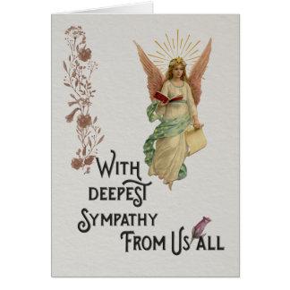 Con la tarjeta de condolencia más profunda