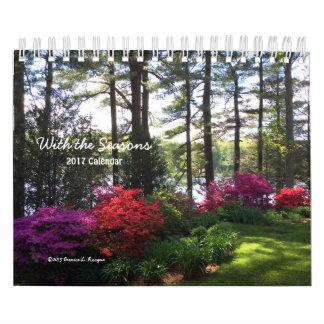 Con las estaciones - calendario 2017 ---