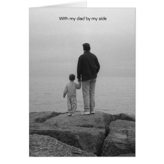 Con mi papá por mi lado tarjeta de felicitación