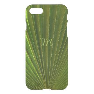 Con monograma de hoja de palma verde funda para iPhone 7