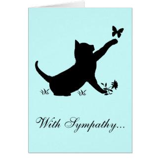Con pérdida de la condolencia de un gato tarjeta