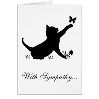 Con pérdida de la condolencia de un gato tarjeta de felicitación