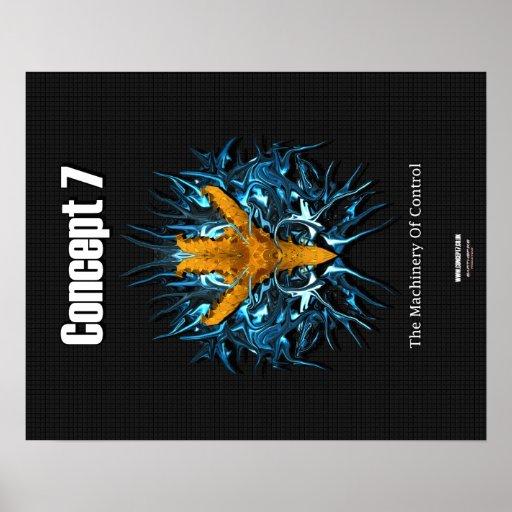 Concepto 7 - La maquinaria del control - poster