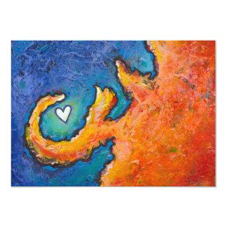 Concepto - arte moderno de la diversión expresiva invitación 12,7 x 17,8 cm