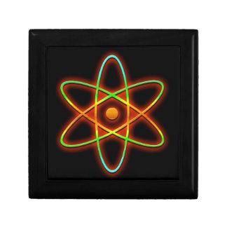 Concepto atómico caja de regalo