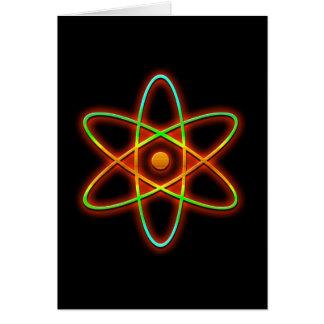 Concepto atómico tarjeta