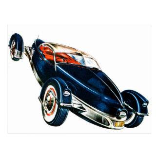Concepto auto clásico de Tucker del coche del Postal