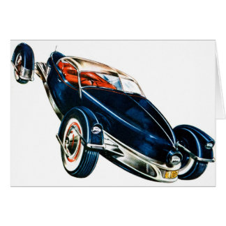 Concepto auto clásico de Tucker del coche del vint Tarjeta De Felicitación