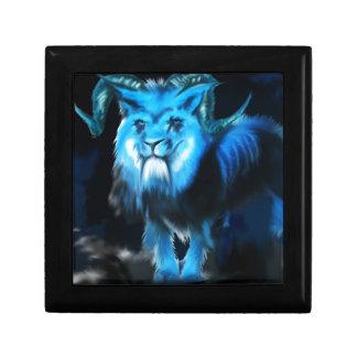 Concepto azul de la criatura cajas de regalo