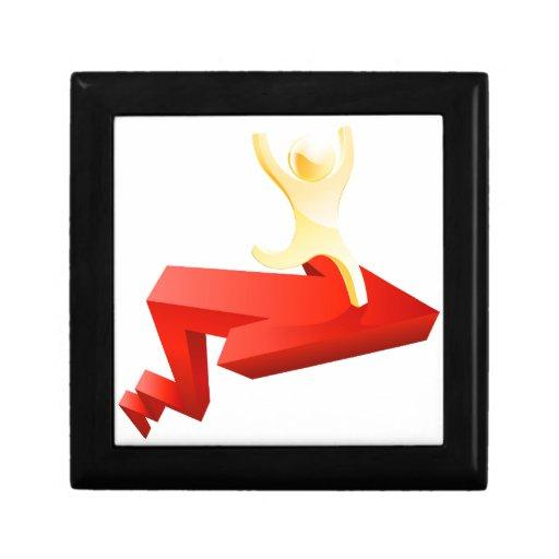 Concepto corporativo del éxito cajas de joyas