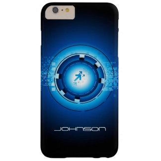 Concepto de alta tecnología abstracto azul del funda de iPhone 6 plus barely there
