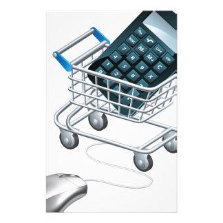 Concepto de contabilidad en línea papeleria personalizada