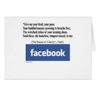 Concepto de Facebook Tarjeta