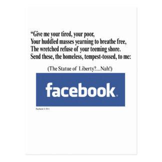 Concepto de Facebook Postal