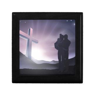Concepto de familia cristiano de Pascua Cajas De Regalo