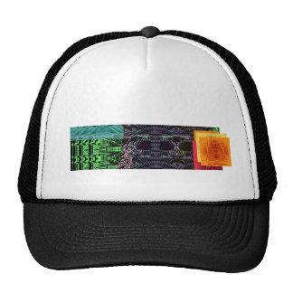 concepto de la bandera de los artefactos gorras