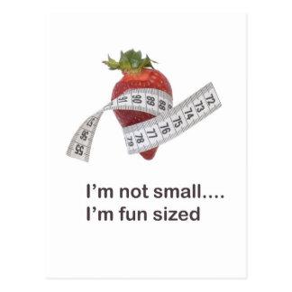 Concepto de la dieta tarjeta postal