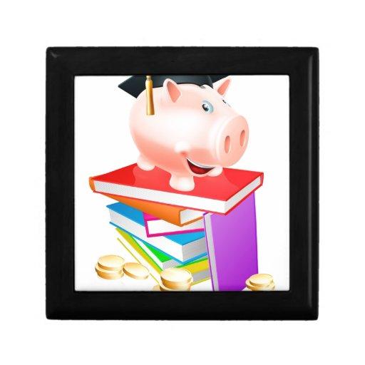 Concepto de la disposición de la educación cajas de recuerdo