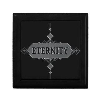 Concepto de la eternidad caja de regalo