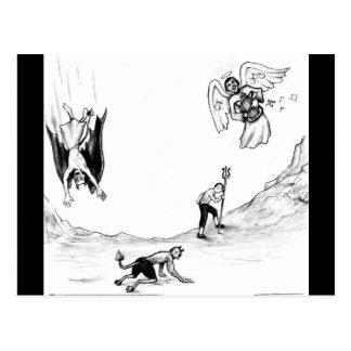 Concepto de la evolución de vida espiritual y postal