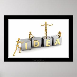 Concepto de la idea posters