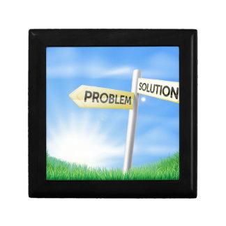 Concepto de la muestra de la solución del problema cajas de regalo