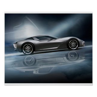 Concepto de la pastinaca del Corvette Póster
