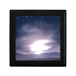 Concepto de la salida del sol o de la puesta del s cajas de regalo